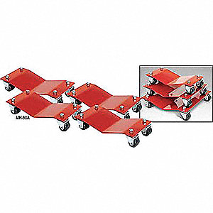 Car Dollies,16 x 16 In,6000 Lb,PK4