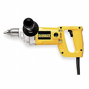 "1/2"" Electric Drill, 7.0 Amps, Spade Handle Style, 600 No Load RPM, 120VAC"
