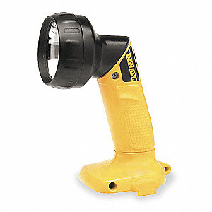 Industrial Xenon Handheld Flashlight, Plastic, Maximum Lumens Output: 981, Yellow