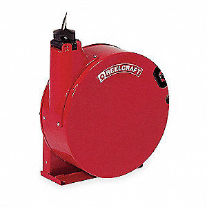 "3/8"", 35 ft. Spring Return Hose Reel, 250 psi Max. Pressure"