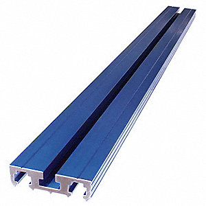 Clamping Track,33-3/4Wx2-1/4Dx3/4H,Blue