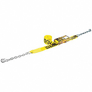 "Tie Down Strap, 30 ft.L x 4""W, 5000 lb. Load Limit, Adjustment: Ratchet"