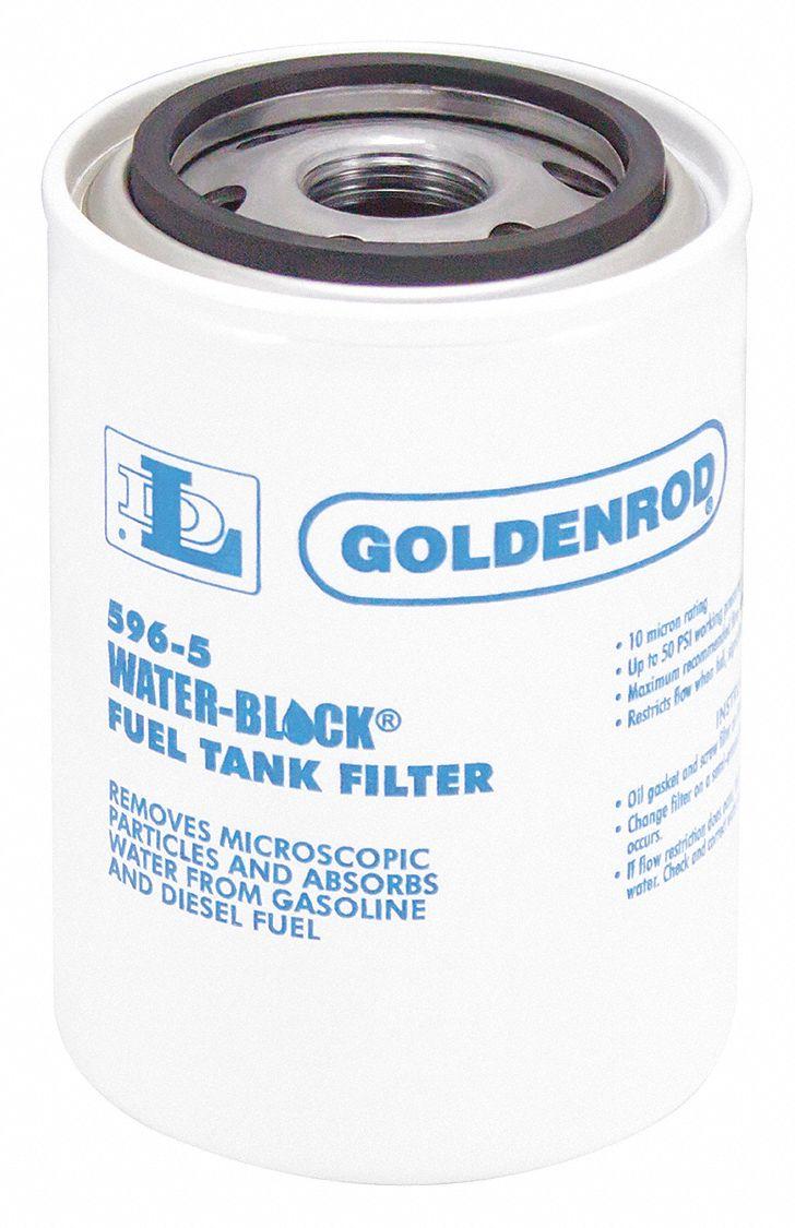 GOLDENROD Fuel Filter, Spin-On Filter Design - 3MMG5 596-5 - Grainger   Spin On Fuel Filter      Grainger