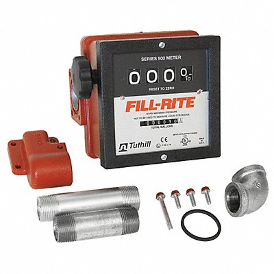 1-1//2 In,6 to 40 GPM FILL-RITE 900CD1.5 Meter