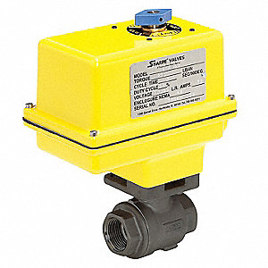 "Carbon Steel Electric Actuated Ball Valve, 2"" Pipe Size, 120VAC Voltage"