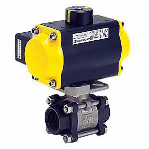 Ball Valve,Pneumatic Actuated,1/4 In