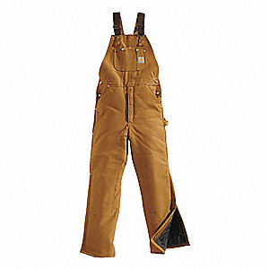 Bib Overalls,Brown,Size 48x30 In