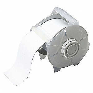 "White B-509 Magnetic Back Polyester Label Tape Cartridge, Indoor Label Type, 25 ft. Length, 2-1/2"" W"