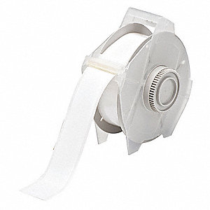 "White Vinyl Film Label Tape Cartridge, Indoor/Outdoor Label Type, 100 ft. Length, 1-1/8"" Width"