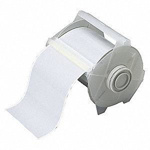 "Silver Vinyl Label Tape Cartridge, Outdoor Label Type, 50 ft. Length, 4"" Width"