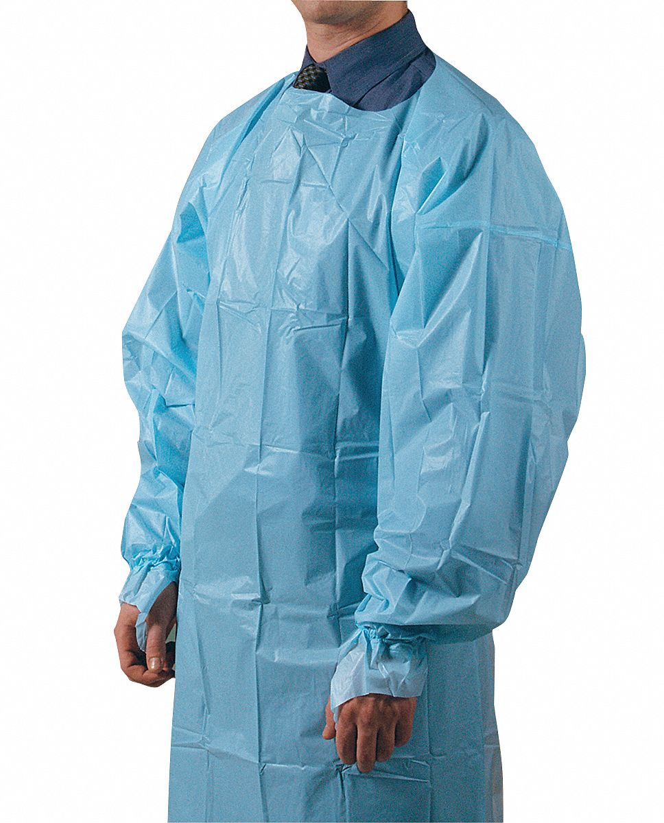 GRAINGER APPROVED Lightweight Disposable Gown, Elastic, PK15 - 3MUC8 ...