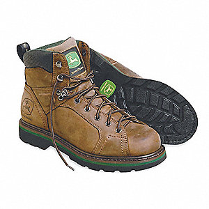 Work Boots,Pln,Mens,10-1/2W,Brown,PR