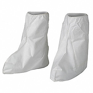 Boot Covers,XL/2XL,White,PK400