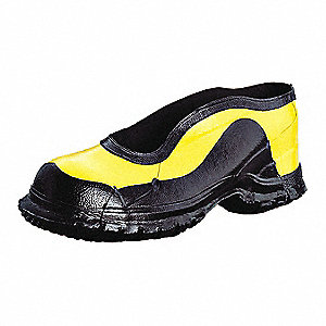 Yellow/Black Dielectric Overshoes, Size: 12, Ankle Height