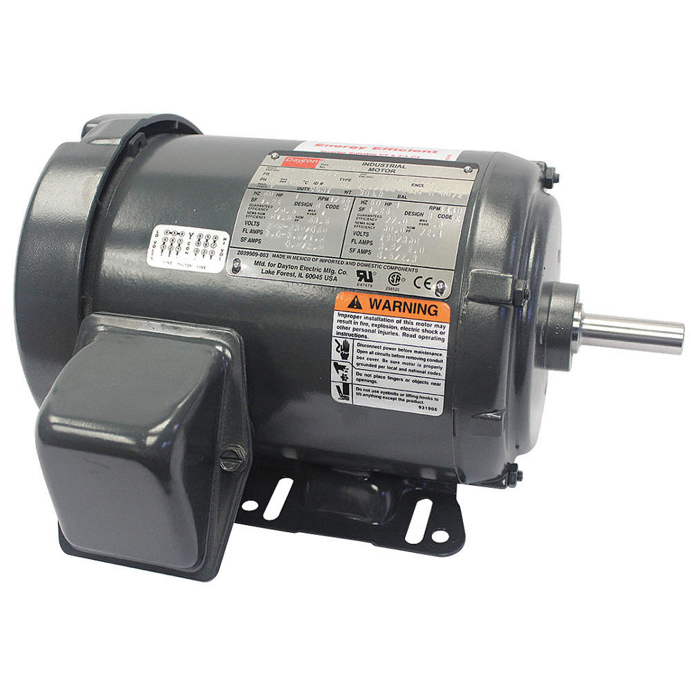 Dayton 1 Hp General Purpose Motor3 Phase1755 Nameplate Rpmvoltage 3 Phase Motor Wiring Zoom Out Reset Put Photo At Full Then Double Click