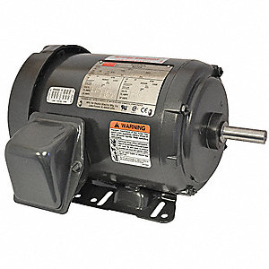 1-1/2 HP General Purpose Motor,3-Phase,1735 Nameplate RPM,Voltage 208-230/460,Frame 56H