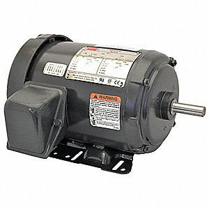 3/4 HP General Purpose Motor,3-Phase,1155 Nameplate RPM,Voltage 208-230/460,Frame 56H