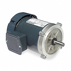 1/3 HP General Purpose Motor,3-Phase,1725 Nameplate RPM,Voltage 208-230/460,Frame 56C