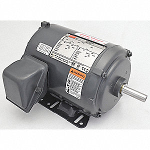 1 HP General Purpose Motor,3-Phase,1725 Nameplate RPM,Voltage 208-230/460,Frame 56H