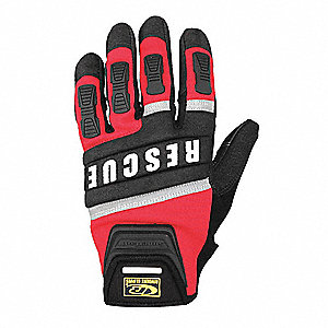 Extrication Gloves,Rescue,Red,L,Pr