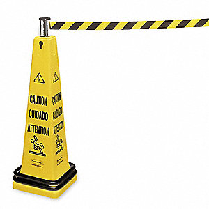 Barricade Cone System, Caution,Eng/Sp/Fr