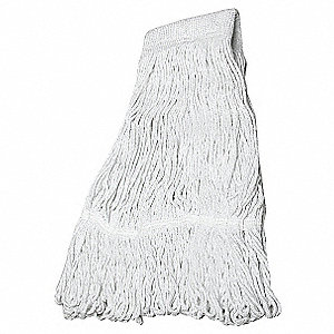 Quick Change Rayon String Wet Mop Head, White
