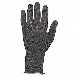 Black Knit Gloves, Wool/Acrylic, Size Men's One Size Fits Most, 7 Gauge