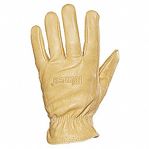 Leather Gloves,Mens L,Tan,PR
