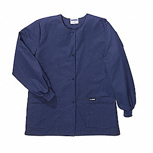 Warmup Jacket, L, Navy, 31-1/2 In. L