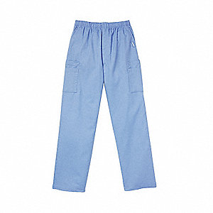 Scrub Cargo Pants, 2XL, Blue, Mens