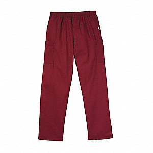 Scrub Cargo Pants,M,Wine,Mens