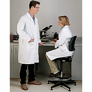 Lab Coat,L,White,41-1/2 In. L