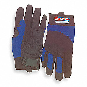 Mechanics Gloves, Blue/Black, M, PR 1