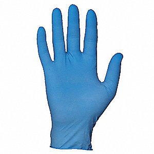 Disposable Gloves, Latex, Powdered, Size: L, Color: Blue, PK 100