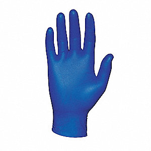 "9-1/2"" Powder Free Unlined Nitrile Disposable Gloves, Blue, Size  XS, 100PK"