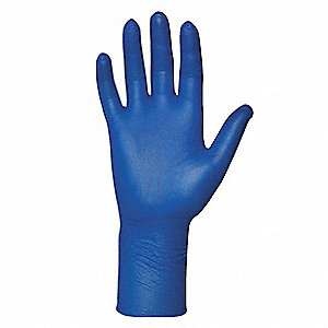 "11"" Powder Free Unlined Nitrile Disposable Gloves, Blue, Size  XL, 100PK"