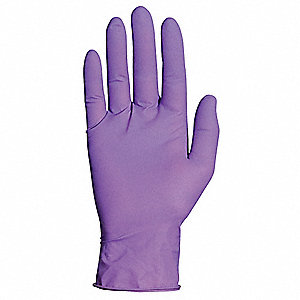 "11-1/2"" Powder Free Unlined Latex, Neoprene, Nitrile Disposable Gloves, Violet, Size  L, 100PK"