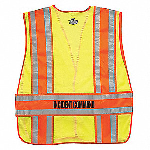 Safety Vest,Orange,Incident Command,M/L