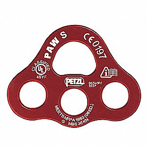 Anchor Plate L,Aluminum,8100 lb.,Red