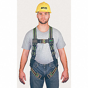 Duraflex® Full Body Harness with 400 lb. Weight Capacity, Green, 2XL