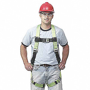 Full Body Harness,2XL,400 lb.,Green