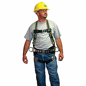 Duraflex® Full Body Harness with 400 lb. Weight Capacity, Green, L/XL