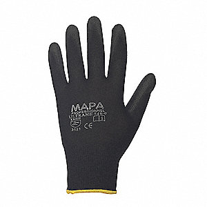 13 Gauge Coated Gloves, Black