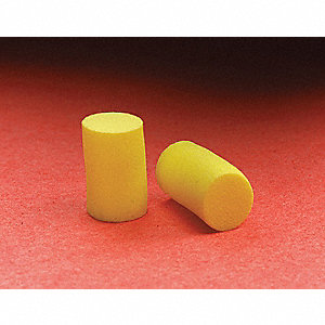 31dB Disposable Cylinder-Shape Ear Plugs&#x3b; Without Cord, Yellow, Universal
