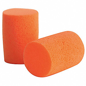 30dB Reusable Cylinder-Shape Ear Plugs; Uncorded, Orange, Universal