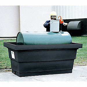 Tank Containment Unit,34-1/2 In. H,Black