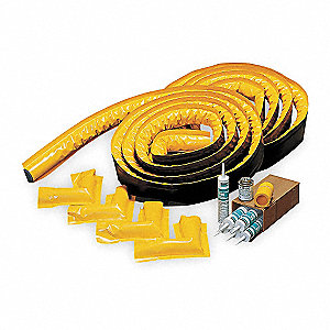 "50 ft. x 2"" Vinyl Spill Berm Kit, Yellow"