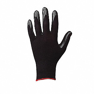 15 Gauge Foam Nitrile Coated Gloves, Glove Size: S, Black