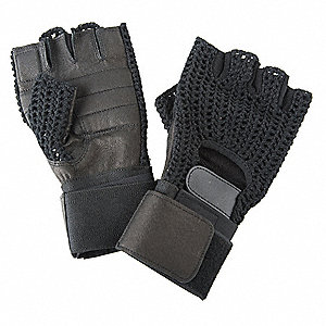 Anti-Vibration Gloves,M,Black,PR
