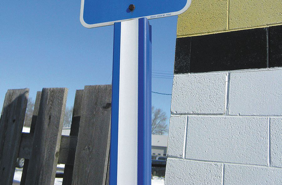 U-Channel Cover,  Compatible Sign Post Style 2 lb U-Channel Posts,  Height 2 ft,  Blue, White